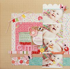 terrific baby layout by beckyjune,  One Scrappin' Mama