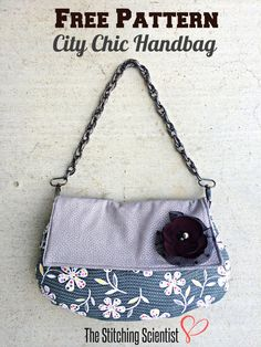Free Pattern City Chic Handbag | The Stitching Scientist #freebagpattern #diy #freesewingpattern handbag patterns, free pattern, free handbag, chic handbag, sewing patterns