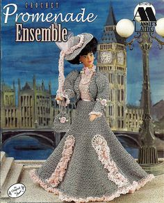 Promenade Ensemble Fashion Doll  Crochet Pattern  Annies Attic 871419.