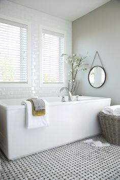 Free-standing tub #SabalHomes #uncommonlystylish #bathtub