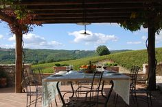 lovely tuscan villa view