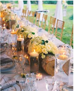 More tree/ forest wedding looks. Great idea!