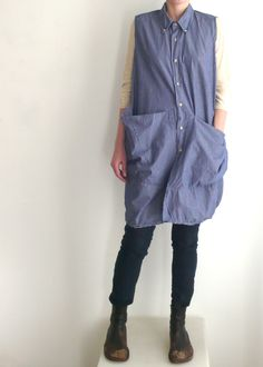 Smock from old men's button-down shirt