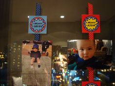 Free printables for a ONE YEAR birthday banner... the starbursts make these perfect for a superhero theme.