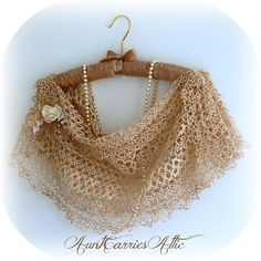 Tatted Lace Collar Shrug Shawl Very Delicate all Vintage