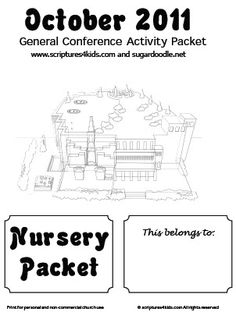 LDS Conference activity packet