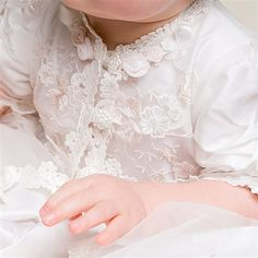 Scarlett Lace Christening Gown (Girl) | Heirloom Baptism Outfits & Dresses - Designer Gowns & Dresses