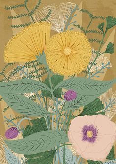 """""""Flowers"""" by Lu Green."""
