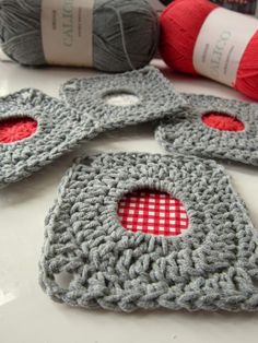 porthole squares...you can even use fabric in the middle!