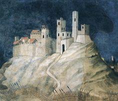 Palazzo Pubblico frescoes | Simone Martini - Guidoriccio da Fogliano all'assedio di Montemassi ...