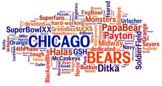 Chicago Bears word cloud