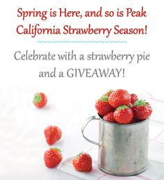 Spring Giveaway and a Strawberry Pie #JustAddStrawberries http://bit.ly/1oV49Rc #ad