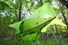 The Nube Hammock Shelter by Richard Rhett Enhances Camping Experience trendhunter.com