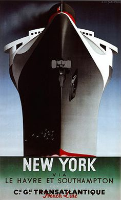Art Deco poster, French Line