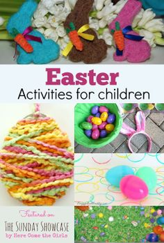 Children's Activities for Easter - some great ideas for keeping the kids entertained in the holidays. There is something for everyone here.
