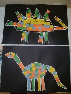 Dinosaurs!  @Kristi Muck for younger kids, you could draw the outline, then get them to fill it in with ripped paper.