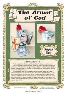 My Little House: Paper Toy: the Armor of God