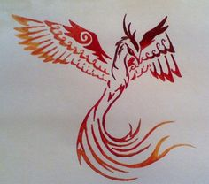 Tribal Phoenix by ~xxemobearxx on deviantART Ok for tattoo use. Do not post on web without permission of artist.