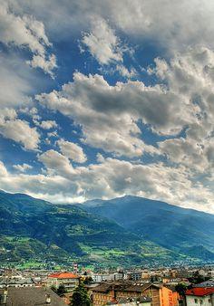 Aosta in The Aosta Valley, Italy