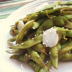 "Garlic Teriyaki Edamame | ""I love edamame and this recipe was a nice change for the same way I always make. """