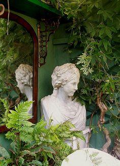 mirrors in garden
