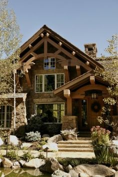 Traditional exterior storm mountain ranch house