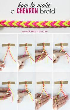 How to Make a Chevron Braided Bracelet #jewelry #bracelet #chevron #tutorial