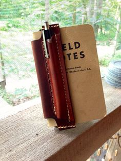 Leather Field Notes Notebook Vest, Field Notes Leather Cover, Gift ideas