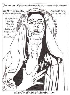 "Idalja Temmer. Solo Exhibition. ""Frames on L"" Brooklyn, NY. Apr 19 - May 31, 2013."