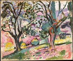 Olive Trees at Collioure by Henri Matisse (French 1869-1954)  Summer 1905 (?)  Oil on canvas