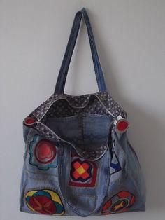 Bolsa Jeans Artesanal - Produto 303474   AIRU