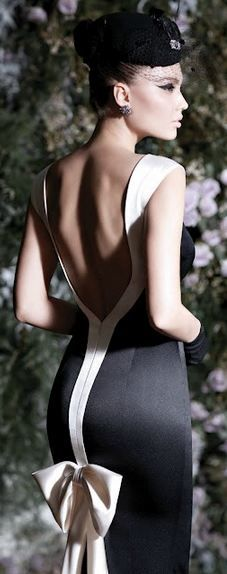 wedding dressses, evening dresses, backless dresses, black white, gown