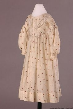 Girl's Dress, about 1840