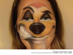 Timon face painting…