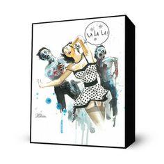 Zombie Love Mini Art Block now featured on Fab.