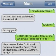 funny texts from parents, funny texts - soo something my mom would do!! Hahah