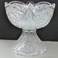 ABP Cut glass punch bowl  American brilliant period 1886 - 1916