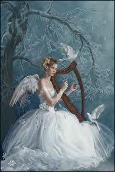 Chorus ~ Nene Thomas fantasy art angels, fantasy angels, fairi, angels beauty, music angel