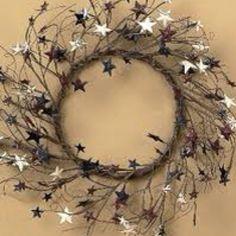 red, juli 4th, americana wreath, americana decor, stars, 4th of july, blues, americana collect, wreaths