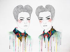 Izziyana Suhaimi's Embroidered Illustrations