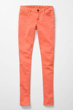 Clothing: Earnest Sewn 7/8 Crop in Orange at Anthropologie (Made in USA)