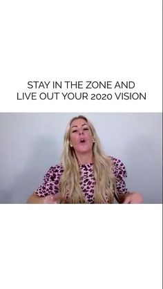 In order to achieve the things you really want, you have to have a very clear vision. You have to know exactly where you want to go. And then put it into an actionable plan and take those steps to make it happen. Don't wait, get in the zone today!