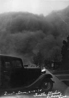 Dust storm in Liberal, 1935