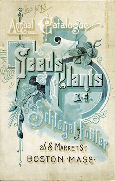 Seed catalog, late 1800s
