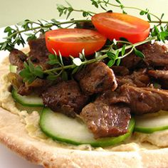 Mediterranean Hummus Flatbread