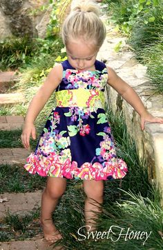 Little girls cute summer and fall dress!  Perfect for any occasion!  Infant Toddler Girls