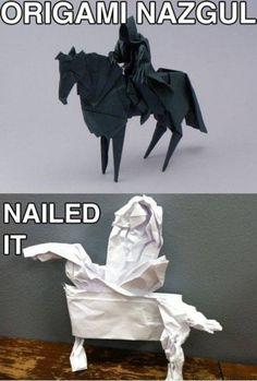 19. Horse Origami   31 Horrendous Pinterest Fail Monstrosities