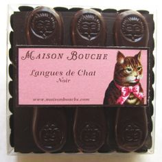 Cat tongue chocolates.
