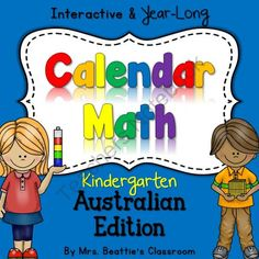 The Best Interactive SMART Board Calendar Math for Kindergarten - Australian from Mrs. Beattie's Classroom on TeachersNotebook.com -  (40 pages)  - The Best Interactive SMART Board Calendar Math for Kindergarten - Australian