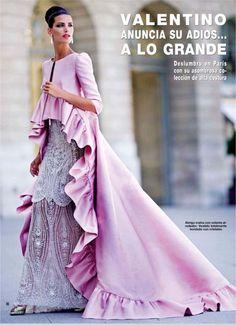 """couture-dolls:    """"Valentino Anuncia Su Adios… A Lo Grande""""Hola Mexico, November 2007Model: Laura Sanchez"""